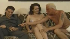 Small titted blonde is smiling while Cyrus Love was sucking her huge cock, the way she wants