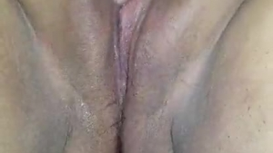 Hot blonde amateur playing with a huge cock